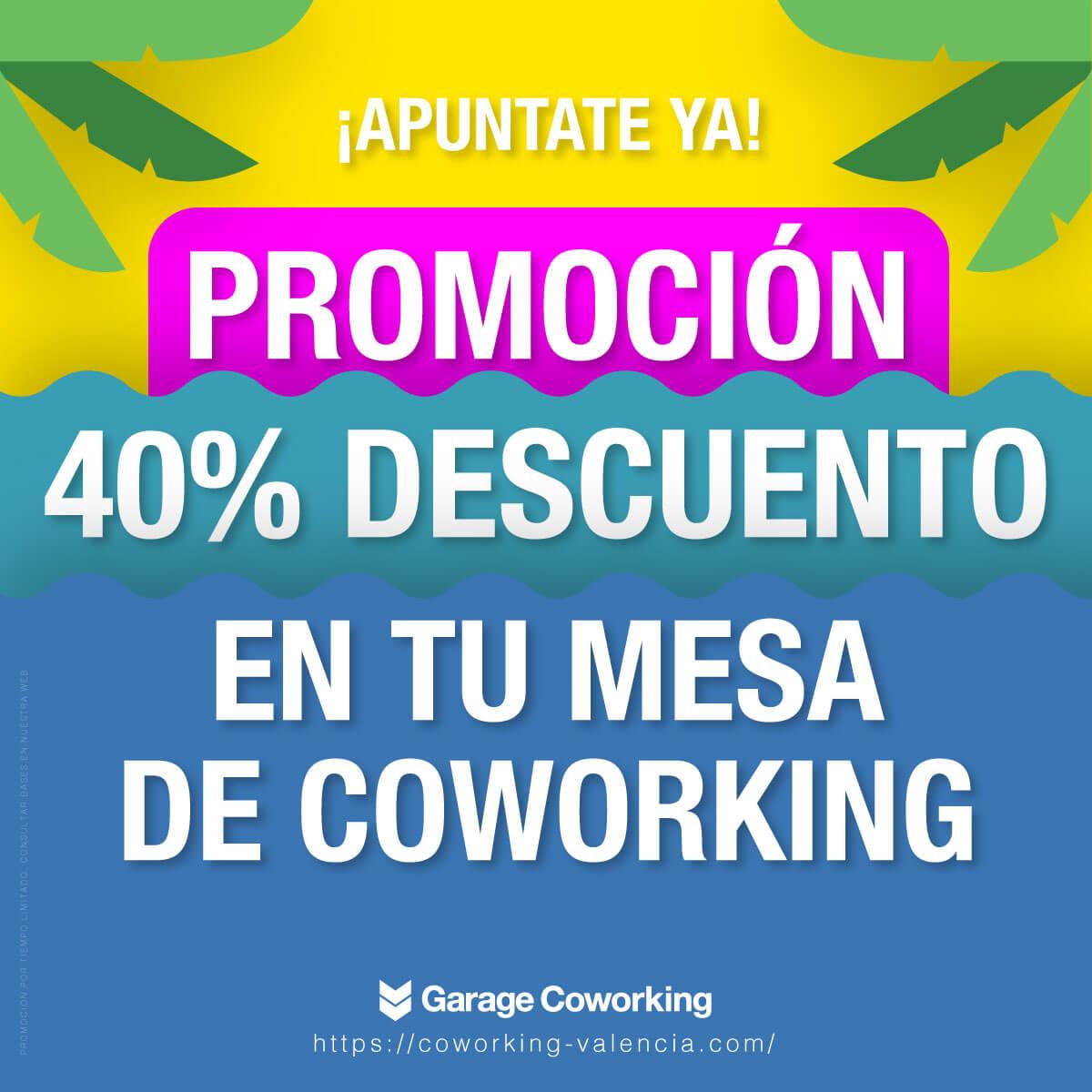 Promoción para coworking valencia